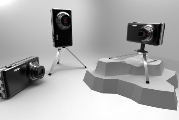 Camera with Integrated Tripod